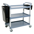 Poly Carb 3 Tier Food Service Trolley - Side bins sold separately (Prev. 1931)