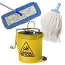 Brooms, Pans, Buckets and Mops