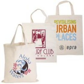 'Logo-Line' Calico Short Double Handle Tote Bag