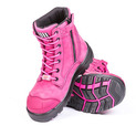'She Wear' She Achieves Womens Zipped Lace Up Safety Work Boot with Water Resistant Upper