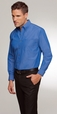 ** CLEARANCE ITEM ** 'City Collection' Mens Long Sleeve Classic Blue Shirt