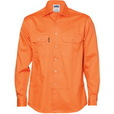 'DNC' Long Sleeve Cotton Drill Work Shirt