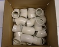 I36. PVC Elbow 45˚ 40mm (1 1/2˝) - Old Style -  Box of 30