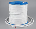 Wire Flat TPS 2 Core and Earth 2.5 mm 7/0.67 White Sheath 1 Metre Length