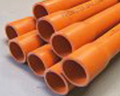 9b. 150 mm Orange HD Electrical conduit, 4 Metre BULK Quantity of 39