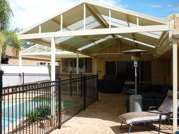 Gable Patio - Gable Roof Carport Luxurious Project On Kitchen ...