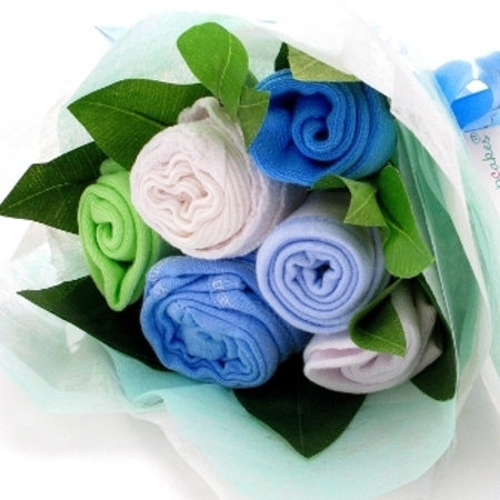 Clothing bouquet powder blue baby gifts baby boy baby gifts clothing bouquet powder blue negle Images