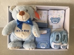 6 Piece Blue Teddy Clothing Set and Bear