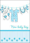New Baby Boy Clothesline with Stripes