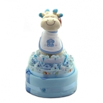 Large Nappy Cake Blue