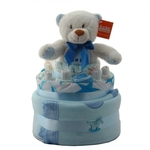 Nappy Cake Blue Bear Small
