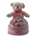 Nappy Cake Pink Bear