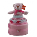 Nappy Cake Pink Bear Small