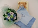 Baby Socks Posy and Blankie Blue