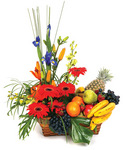 Gift Baskets Fruit and Flower Basket