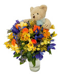 Celebration Bouquet with Soft Toy