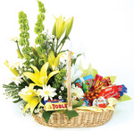Gift Baskets choc and flowers Basket