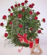 Romantic 2 dozen rose bouquet