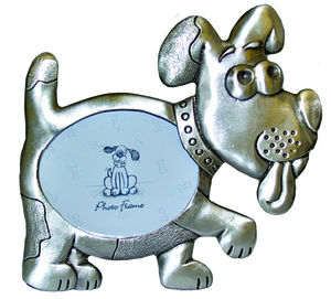 P67753 Pewter look dog picture frame