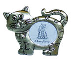 DP10312A Pewter look cat picture frame