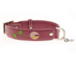 Hamish McBeth leather collar (Tulip Pink)