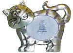 P57453 Pewter look cat picture frame