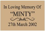 Memorial Plaque - Style One/Medium