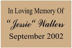 Memorial Plaque - Style Two/Medium