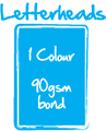Letterheads - 1 Colour