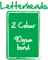 Letterheads - 2 Colour