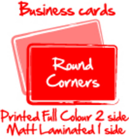 1000 business cards full colour two sides on 300gsm matt laminated 1000 business cards full colour two sides on 300gsm matt laminated on one side 86 x 54mm rounded corners reheart Gallery