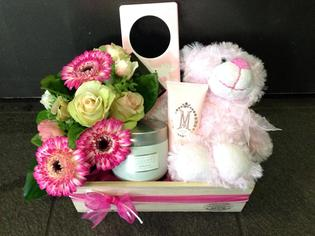 Wooden Box giftset for a Baby Girl arrival
